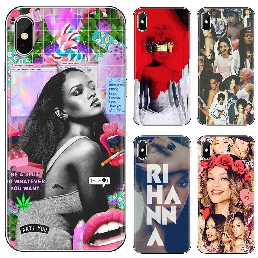Funda de teléfono de silicona Robyn Rihanna Fenty para iPhone 11 Pro 4 4S 5 5S SE 5C 6 6S 7 8X10 XR XS Plus para iPod Touch Hipster