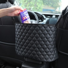 Car Handbag Holder Luxury Leather Seat Back Bag For Skoda Octavia 2 A7 A5 Fabia Rapid Superb Yeti Ma
