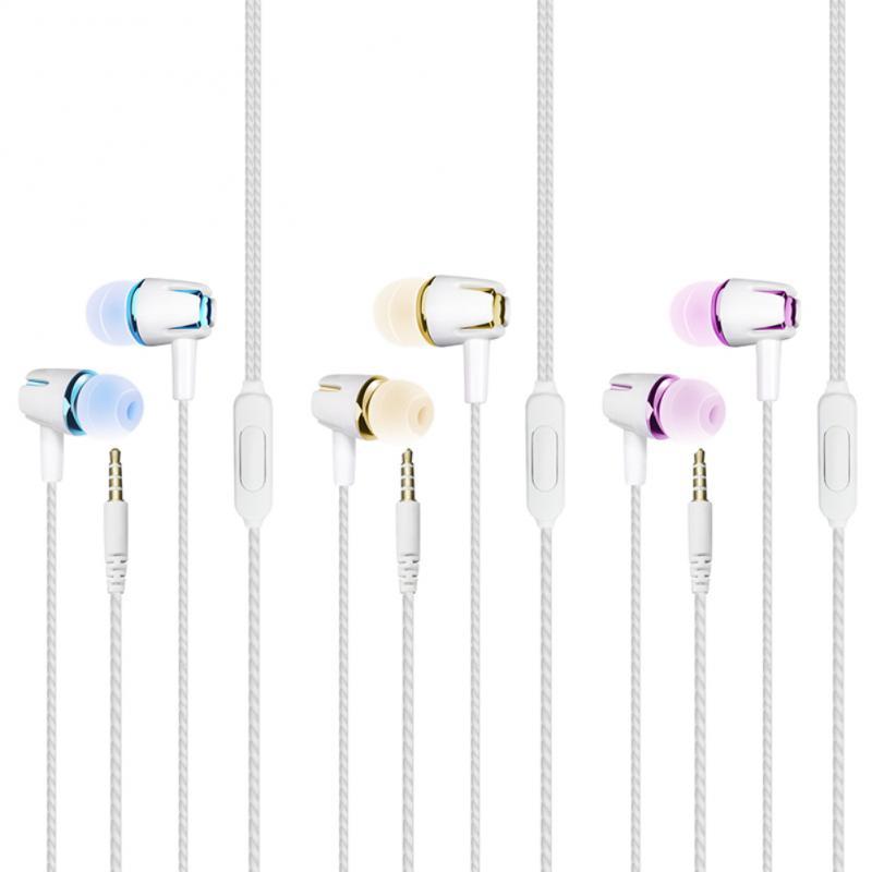 In-Ear Mini Portátil Esporte Fone de ouvido Fones de Ouvido Com Fio Com Microfone Para MP3 Music Player fone de Ouvido Com Fio Para Xiaomi Huawei smartphones