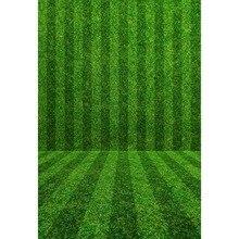 5x7FT Green Striped Soccer Football Field Wall Floor Texture Sports Custom Photo Studio Backdrop Background Vinyl 220cm x 150cm