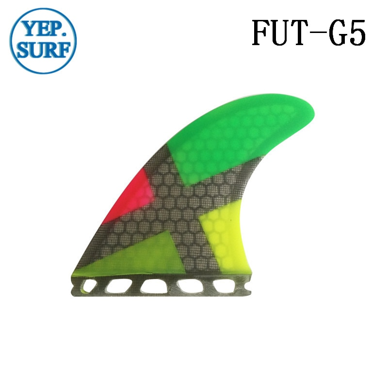 Future G5 Surfing Fin Fiberglass Honeycomb Multicolor Fins Customized Fins Surfboard Future Fins