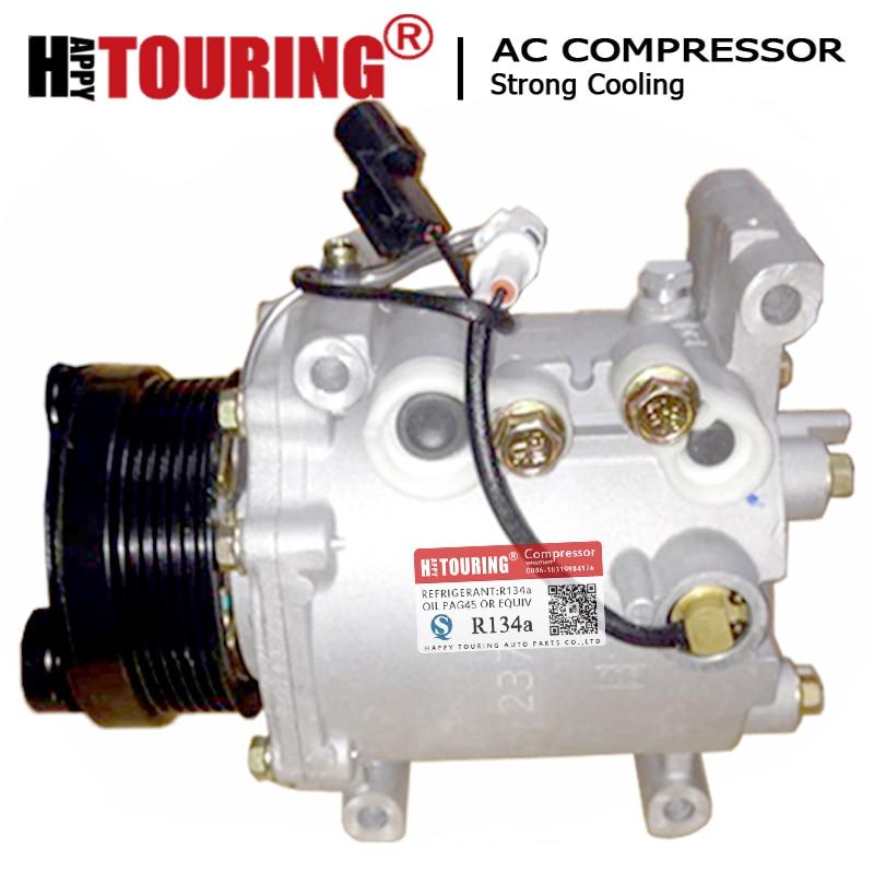 Msc90c ac compressor eletromagnético embreagem pv6 para mitsubishi outlander i 2.0 akc200a205c akc200a215ar akc200a205ar