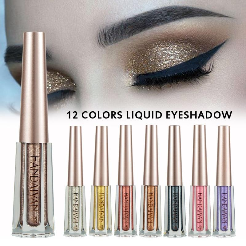 Nueva paleta de sombras de ojos con purpurina líquida, magnífico maquillaje de ojos impermeable metálico brillante, paleta de maquillaje de sombra de ojos impermeable