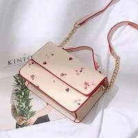 2020 new female bag bags simple pink printing bag wild trend casual small square bag womens diagonal bag handbag shoulder bag