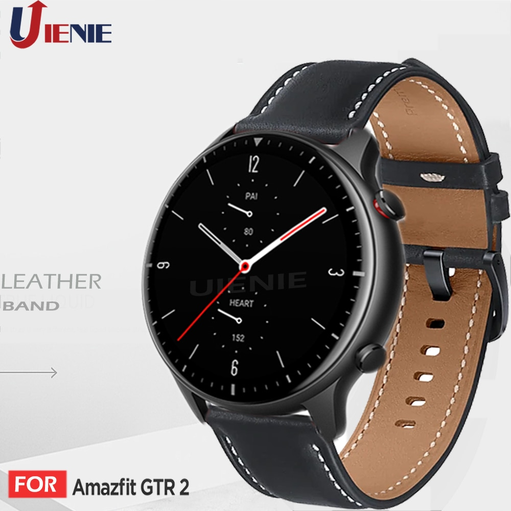Leather Band Strap for Xiaomi Huami Amazfit GTR 2 2e 47mm Pace Stratos 2S 3 Sport Bracelet gtr2 Replacement Wristband correa
