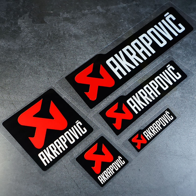 AKRAPOVIC Exhaust Pipe Reflective Car Sticker Waterproof Decal Stickers Auto Window Body