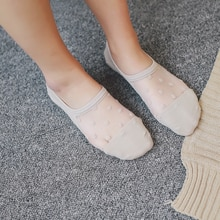 No-show Socks Female Cotton Low Cut Silicone Anti-Slip Invisible Socks Cute Socks WOMEN'S Socks Summ