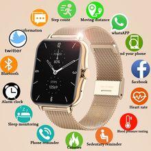 LISCN Bluetooth Call Smart Watch Men Women Smartwatch ECG Fitness Tracker Waterproof 1.69 inch touch
