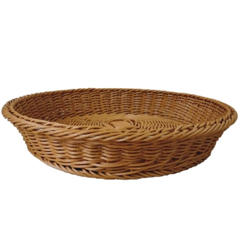 Cesta de almacenamiento multifuncional hecha a mano de bambú de mimbre plato de fruta caja de almacenamiento de vegetales impermeable a prueba de humedad Orga