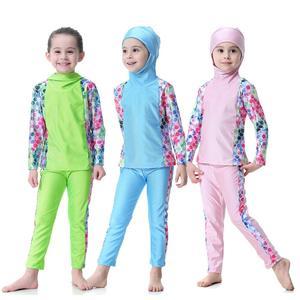 2 PCS Muslim Swimwear Burkini Modest Bathing Suit Islamic Swimsuit for Girls