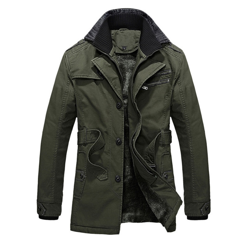 Chaqueta de invierno de terciopelo para hombre, chaqueta informal gruesa de color...