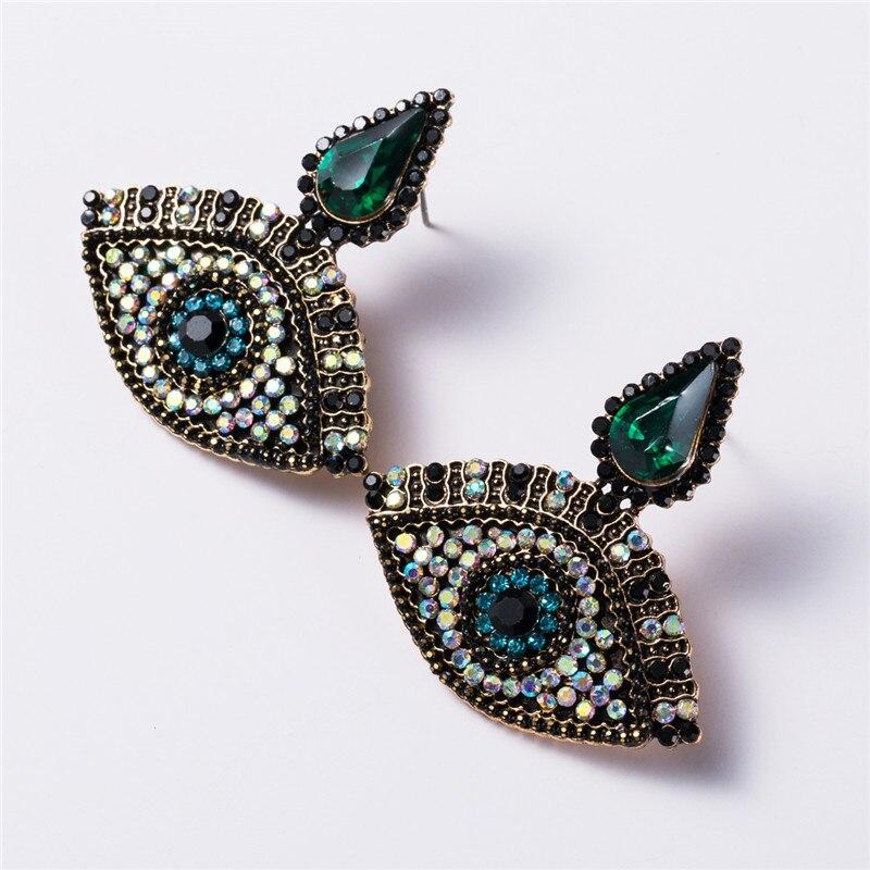 Pauli manfi novo grande olho boêmio brincos de moda brincos de declaração de festa feminino brincos de gota balançar acessórios de jóias