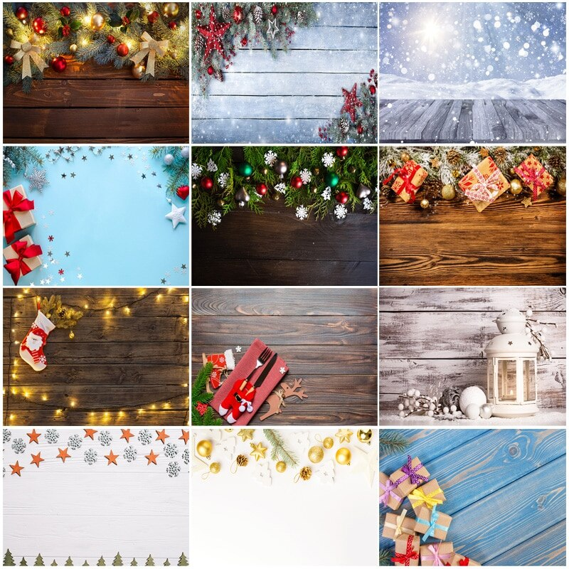 SHUOZHIKE Vinyl Custom Christmas Backdrop for Photography Christmas Gift Photo Backgrounds Photocall Props 210317STY-01 clock decorations fireplace christmas tree wall photography backgrounds vinyl cloth computer printed christmas photo backdrop