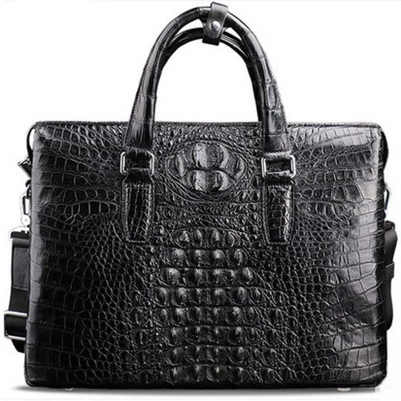 meixigelei new  crocodile leather  men handbag business crocodile skin men bag  one-shoulder men bag