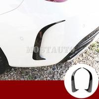 For Benz CLA C117 W117 CLA45 AMG Black Rear Bumper Spoiler Air Vent Trim Cover 2013-2020 2pcs Car Accessories Interior Car Trim