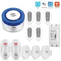 Tuya     sirene dalarme de securite pour maison connectee  wi-fi  433Mhz  compatible avec lapplication Smart life  Google et Alexa