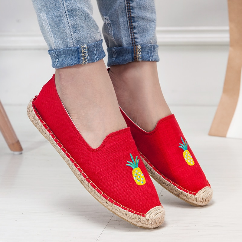 Туфли женские холщовые без шнуровки, повседневная обувь, балетки, лоферы, дышащие эспадрильи, для вождения, плоская подошва