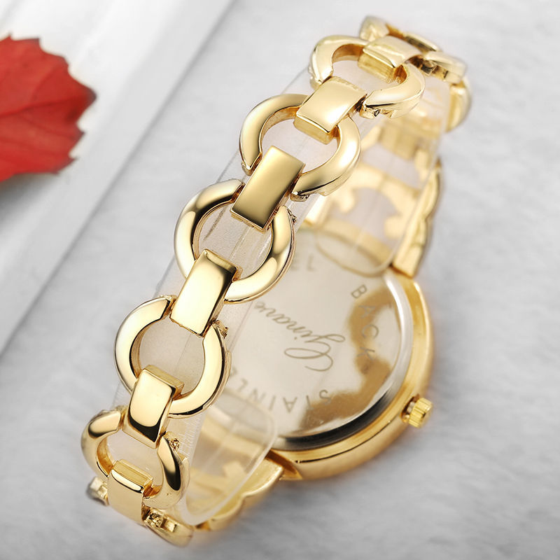 Crystal Pearl Bracelet Watch Women 18K Gold With Diamond 3-eye Quartz Clock Women's Watches Wristwatch Reloj Mujer Montre Remme enlarge