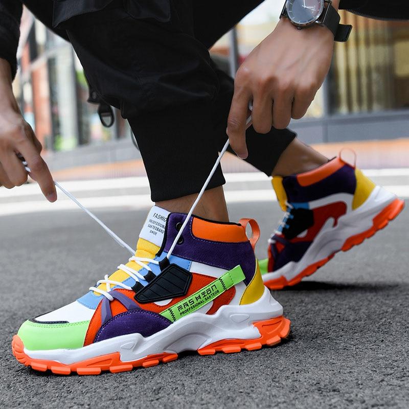 أحذية أنيقة جديدة للرجال أحذية رياضية عالية الكعب للرجال أحذية تدريب Tendencia 2020 مصمم للتنفس Zapatillas De Hombre