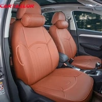 cartailor pu leather car seat cover for dodge avenger 2008 2009 seat covers set custom fit seat cushion support cars accessories