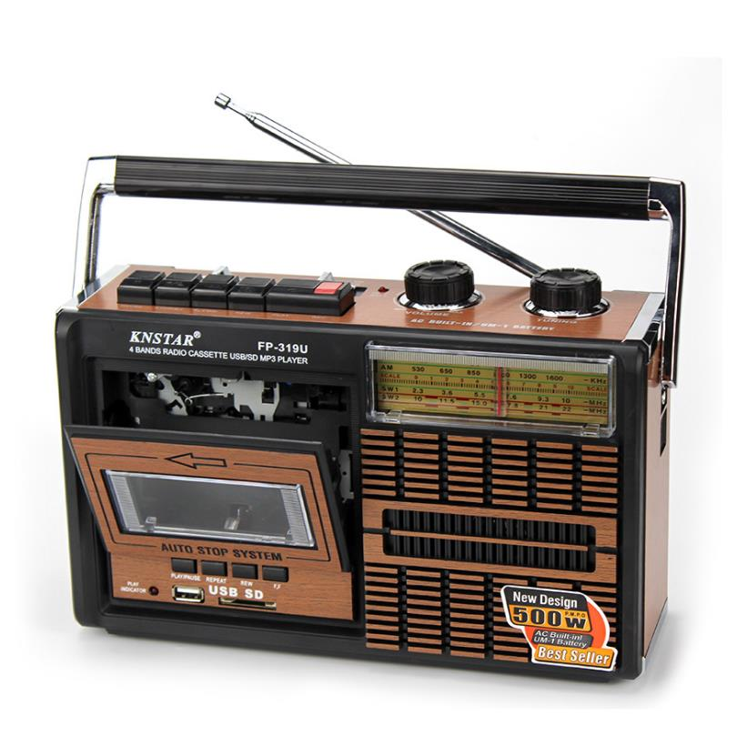FM المتكلم FM AM SW1-2 4 الفرقة ريترو راديو سماعات محمولة العتيقة مسجل شرائط USB SD بطاقة راديو في الهواء الطلق الموسيقى سماعات