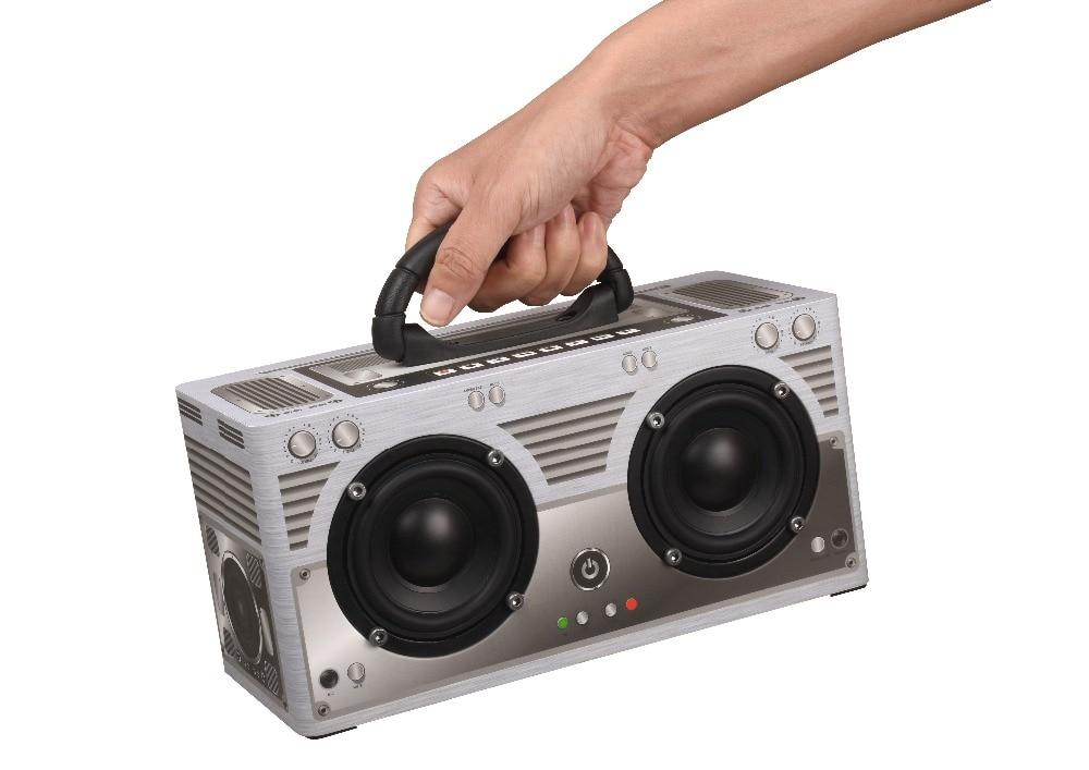 W9 Retro Wireless Bluetooth Speaker V4.2 Aux 3.5mm FM Super Bass Soundbar Portable Wooden Speakers Mic For the Computer phones enlarge