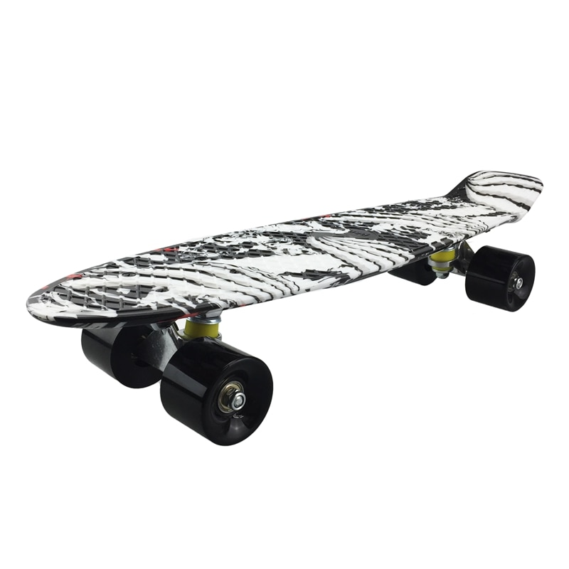 22 Inch Skateboard Small Fish Board Mini Cruiser Penny Board Retro Printing Skateboard Long Board Skate Board Beginners