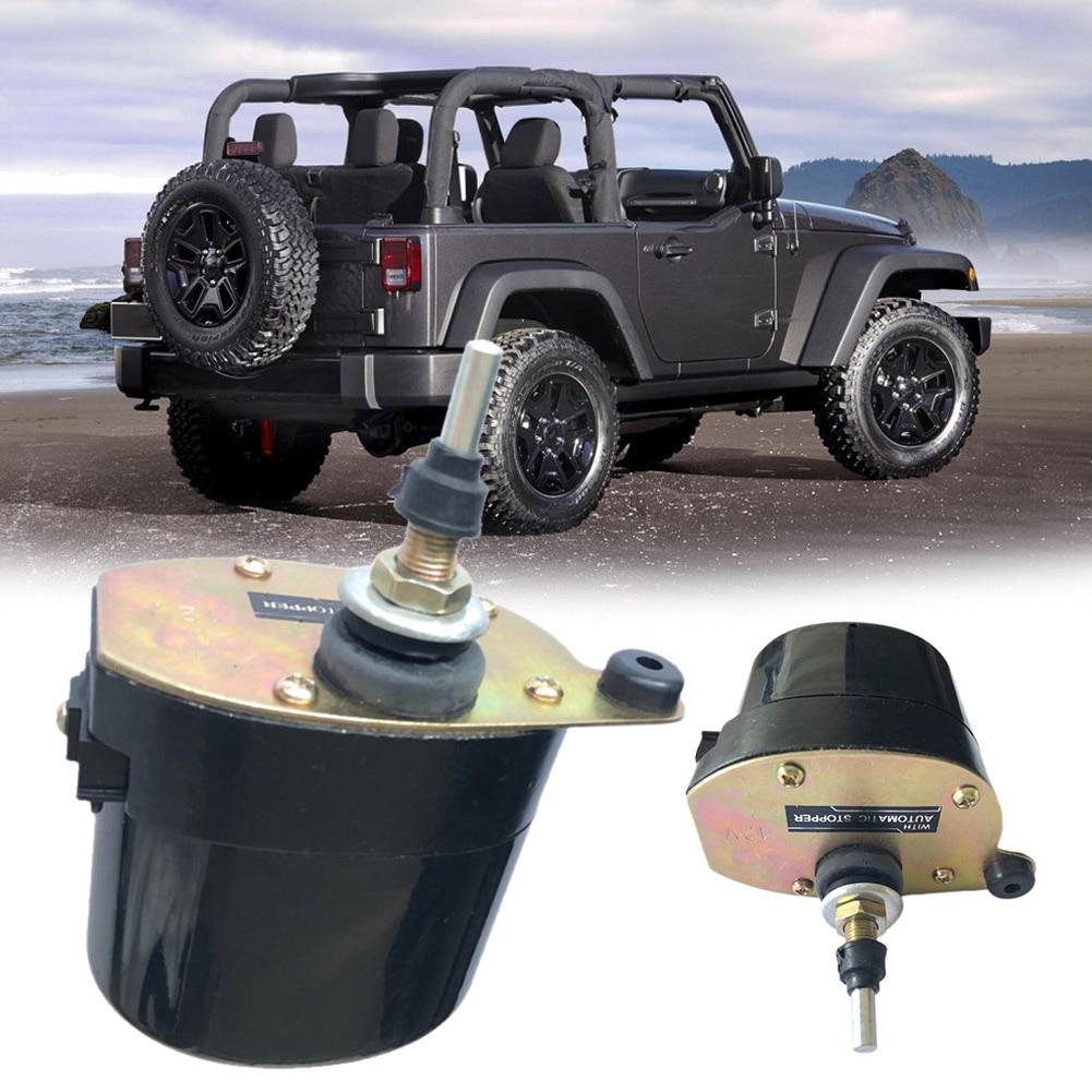 Universal carro veículo pára-brisa limpador motor 12 v 110 graus rápido varrendo para willys jeep trator para dropshipping atacado