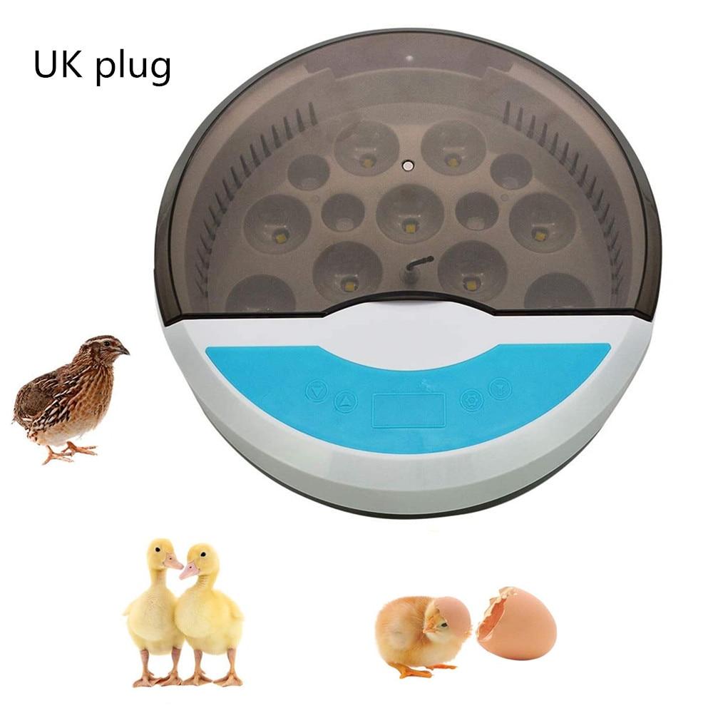 Incubadora de Ovos Controle de Temperatura e Umidade Semiautomática Fazenda Incubação Digital Chocadeira Aves Codorna Frango Pato Pássaro Led 9