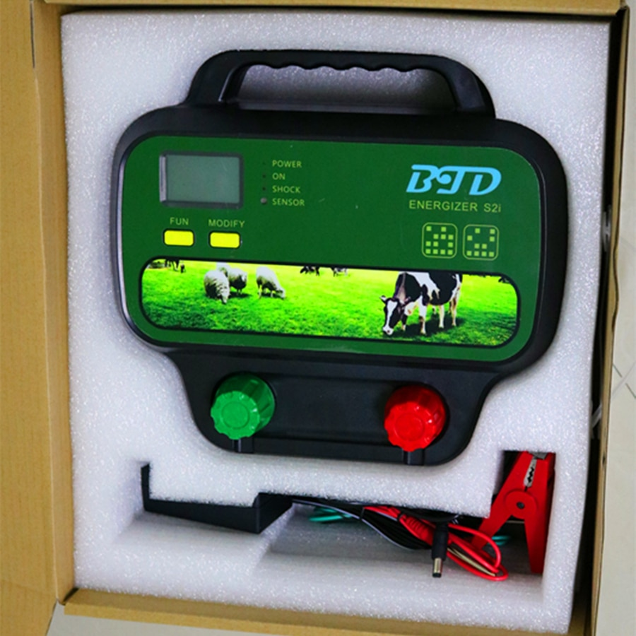 5J  40KM BTD  Solar Electric Fence Energiser Charger Controller for Cattle Sheep Goat Horse animal enlarge