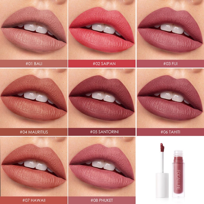 Lápiz labial mate Staymax resistente al agua tinte labial mantener 24 horas cosmético maquillaje terciopelo líquido lápiz labial Staymax mate lápiz labial TSLM1