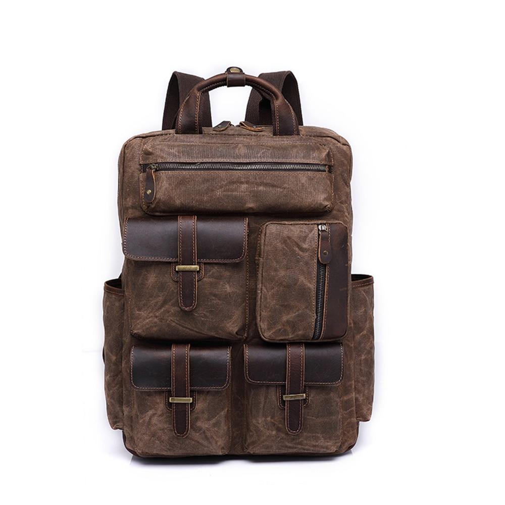 oil-wax-canvas-bag-backpack-mens-travel-retro-canvas-bag-large-capacity-outdoor-mens-bag