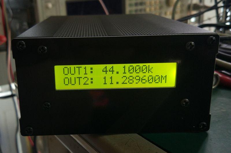 Por BG7TBL 10MHz frecuencia estándar OCXO cristal oscilador frecuencia estándar ajustable 10 K-180 M reloj de Audio Soure + LCD