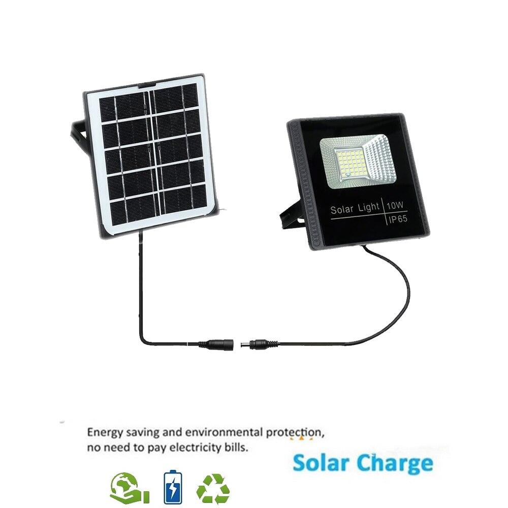 Lámpara LED de pared Solar, impermeable, ip66, luces de seguridad al aire libre Para jardín, Luz Solar Led Para Exterior, reflector, reflector separado