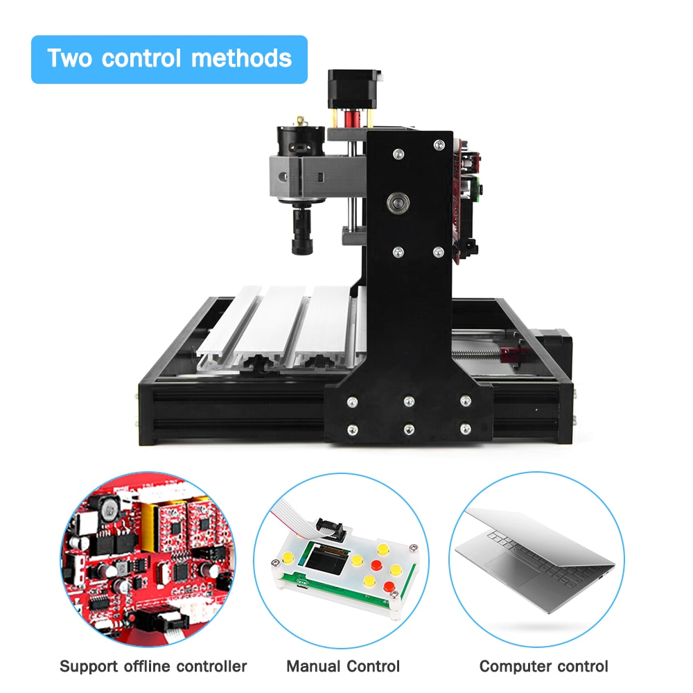 CNC Pro Laser Engraver Engraving Machine GRBL Control DIY Mini CNC Machine 3 Axis Pcb Wood Router Engraver with Controller enlarge