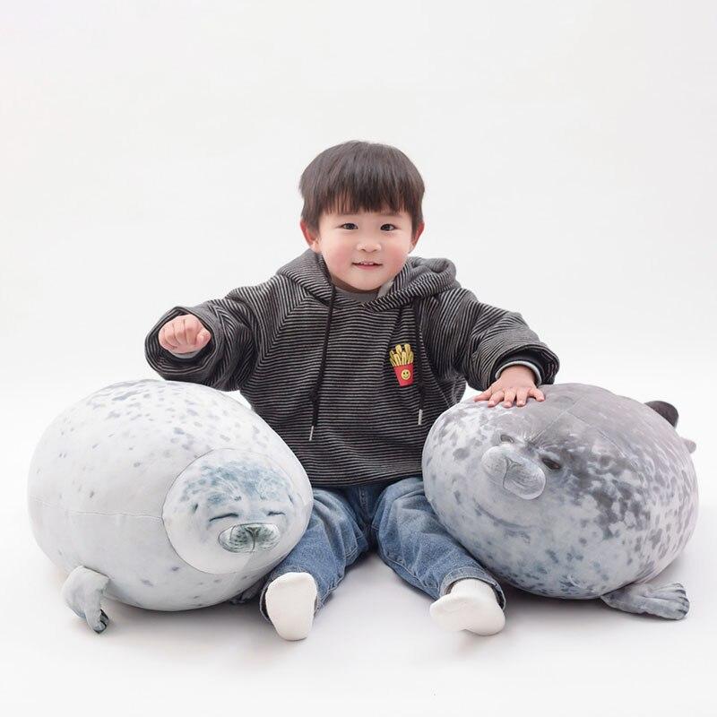30cm 40cm 60cm lindo juguete de foca de peluche realista Vida Marina sello suave muñeca simulación almohada de foca niños juguetes regalo de cumpleaños