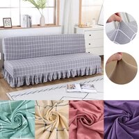 solid color skirt style sofa bed cover beautiful beautiful sofa bed cover washable removable suitable for hotel banquets
