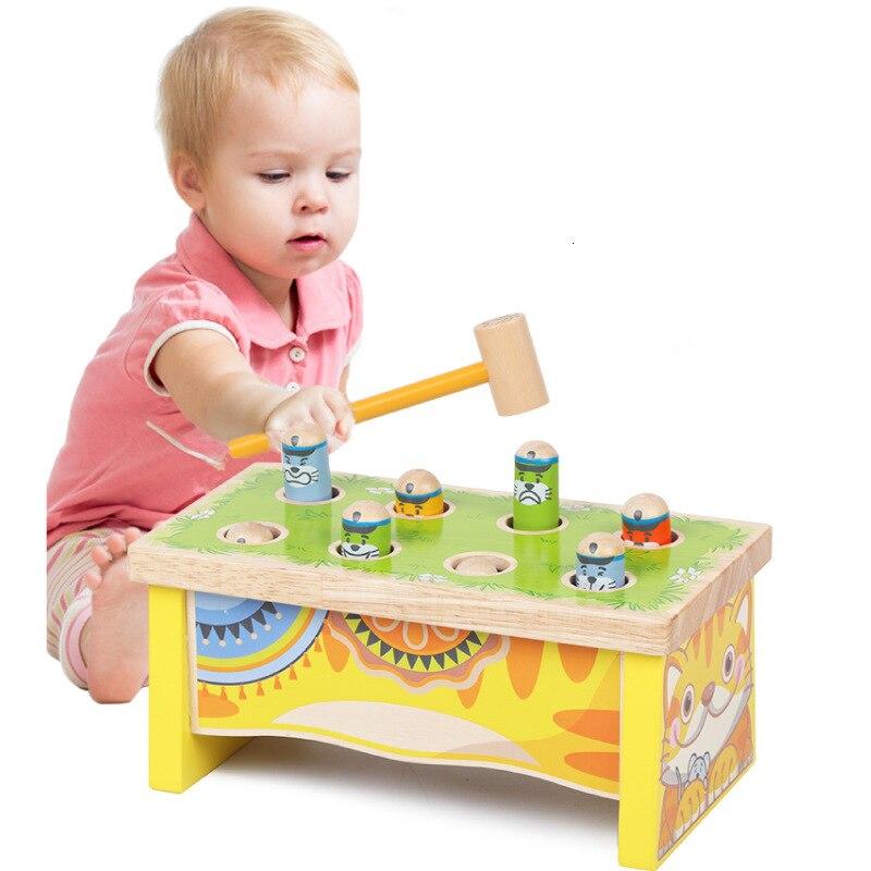 Juguete para niños, hámster, juguete educativo para niños, Coupe de madera Alpinia Oxyphylla