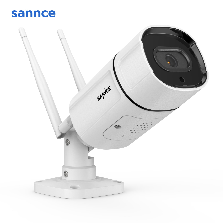 SANNCE HD 2K WiFi IP Camera Wireless Waterproof Night Vision Surveillance Bullet Camara Outdoor IR Cut 3MP Home Security Camara