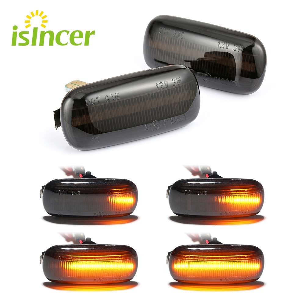 2 peças Dinâmica Led Lado Marcador Turn Signal Luz Seqüencial Blinker Luz Para Audi A3 S3 8P A4 S4 RS4 B6 B7 B8 A6 S6 RS6 C5 C7
