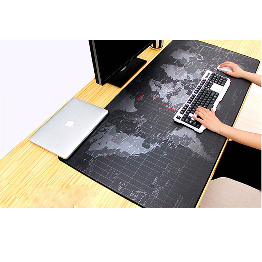 Игровой коврик для мыши, большой коврик для мыши, компьютерный коврик для мыши с резной картой мира, Настольный коврик для мыши и клавиатуры,...
