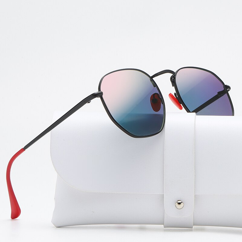 Солнцезащитные очки зеркальные для мужчин и женщин UV-400, классические, в металлической оправе, в винтажном стиле, роскошные брендовые дизайнерские
