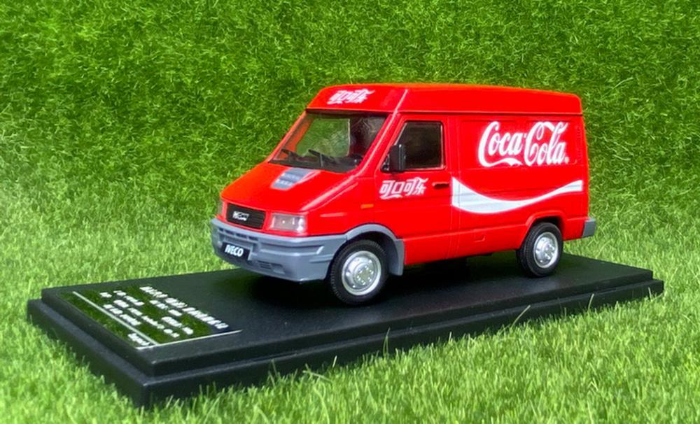 Escala 1/43 IVECO Turbo diario Coca Cola versión fundición juguete de modelo de coche de colección