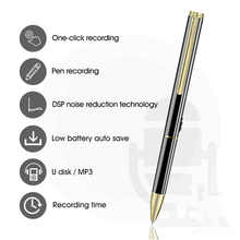Vandlion Digital Voice Recorder Pen 8GB 16GB Audio Recorder MP3 Player Lossless Noise Reduction Stereo Sound Dictaphone V6