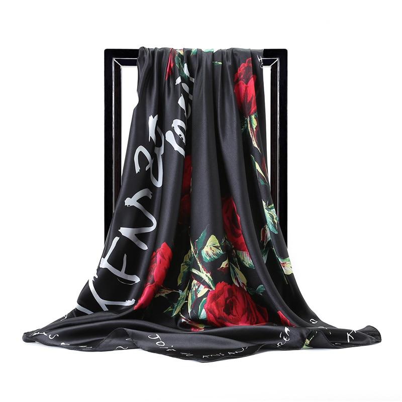 Bufandas chinas de seda de calidad nuevo estilo primavera y verano para mujer, pañuelos de seda para la playa, bufandas para señora, bufanda cuadrada encantadora, chal estampado de moda