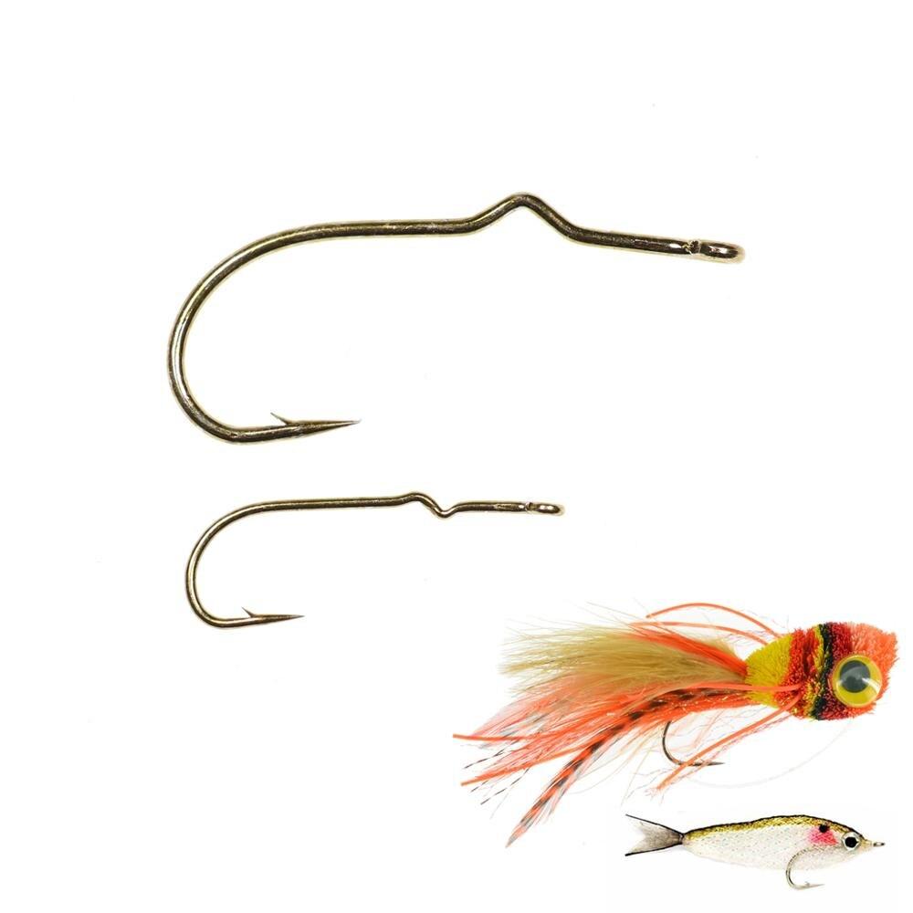 50 pçs sproat haste voar amarrando gancho streamer popper voar gancho longo shank peixe gancho tamanho farpado 2 10