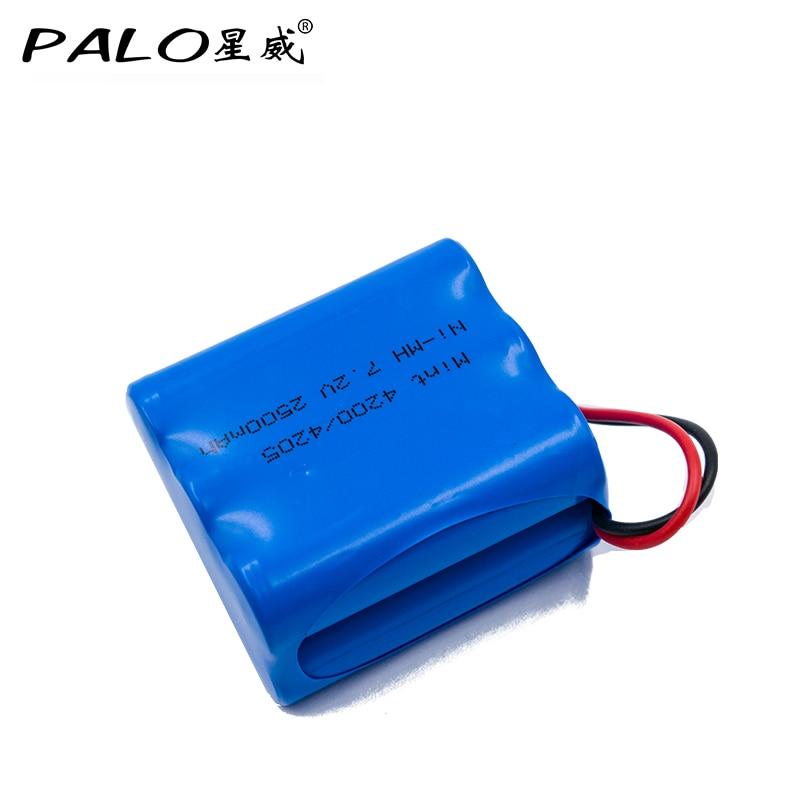 Palo 7.2 v 2500mah ni-mh bateria recarregável para irobot brava 320 321, para hortelã aspirador de pó 4200 4205 4408927 4205 7.2 volt
