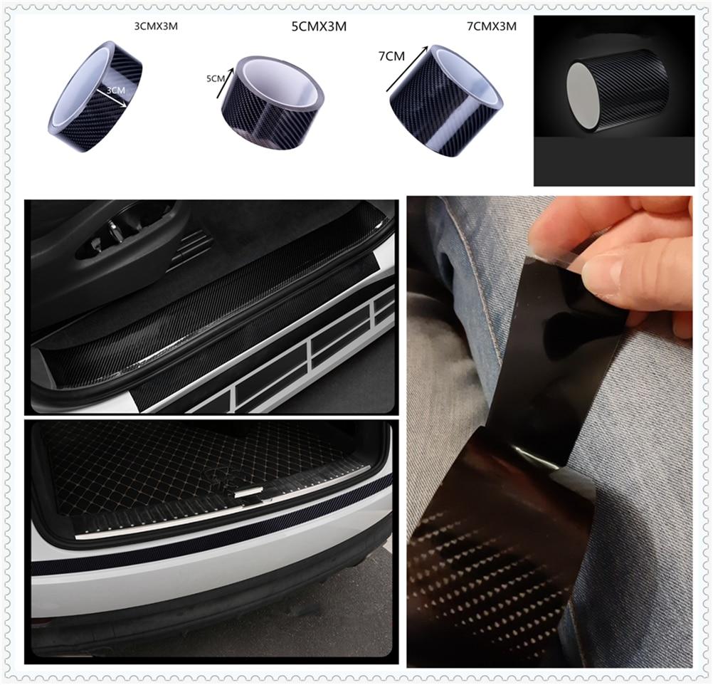 Pegatinas universales para accesorios de coche, parachoques de fibra de carbono anti-paso para McLaren Mack Seat UD Trucks Vauxhall Ashok Leyland