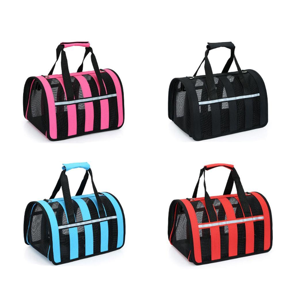 Pets Bag Dual-use Foldable Breathable Mesh Cat Bag Dog Bag Outdoor Portable Handbag Breathable Pet Bag Cat Dog Bags Backpack