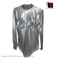 transparent black latex leotard inflatable breast black rubber pantaloon jumpsuit swimsuit bodysuit body suit cq 001